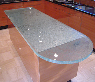 Decorative Glass Fabrication in Metro Detroit MI - Reid Glass, Inc - island